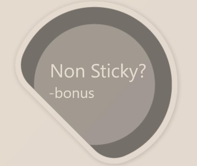 Non Sticky -bonus