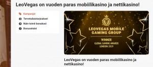 LeoVegas - vuoden paras kasino