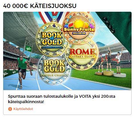 Mr Greenin 40 000 euron käteisjuoksu